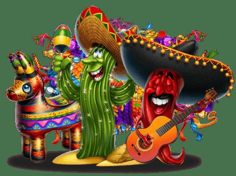 Online Spielautomaten Illustration aus Viva Mexico